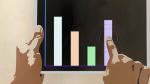 Graphic of hands holding a tablet
